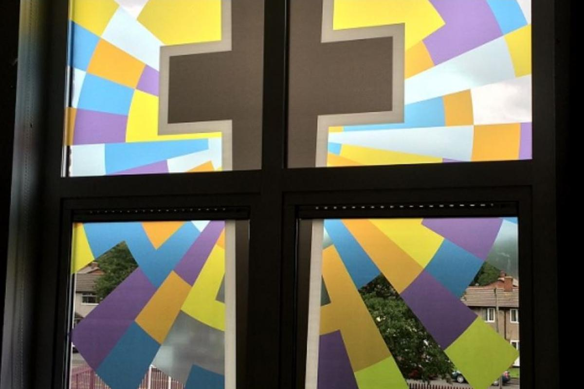 Stained Glass Window Film for St Cuthberts