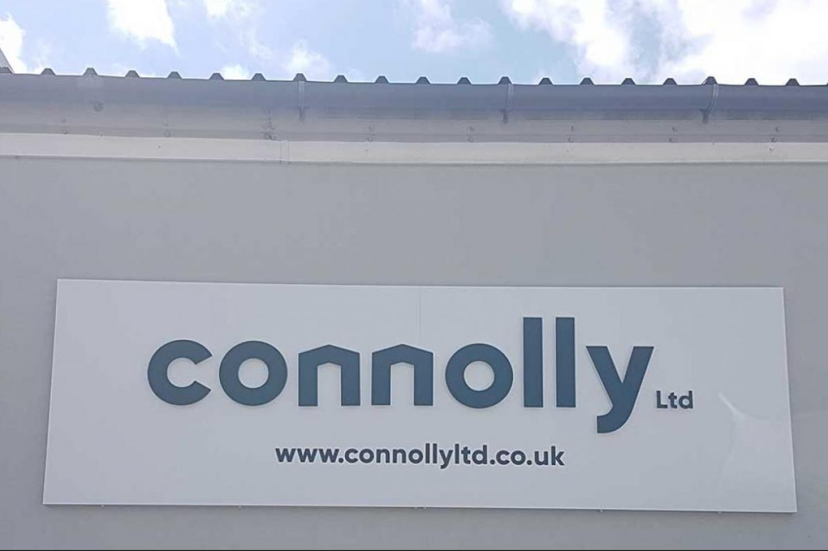 Bespoke Signage for Connolly Ltd's Major Rebrand